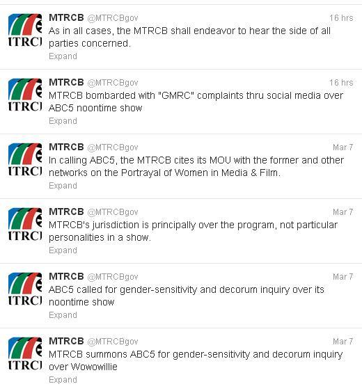 Twitter Account ng MTRCB
