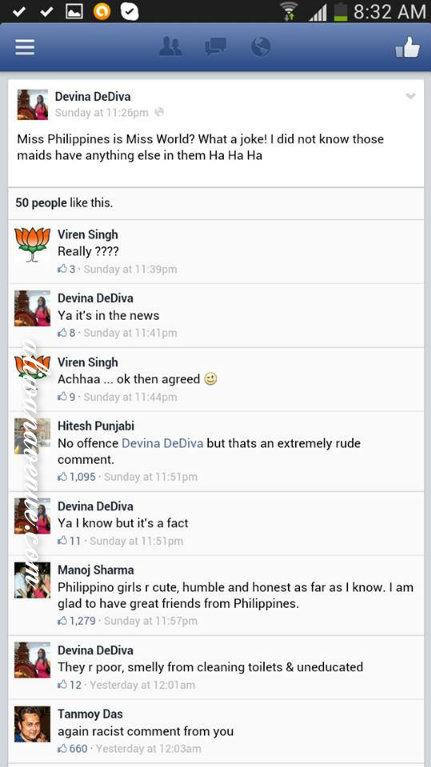 Dediva's Deleted FB Thread