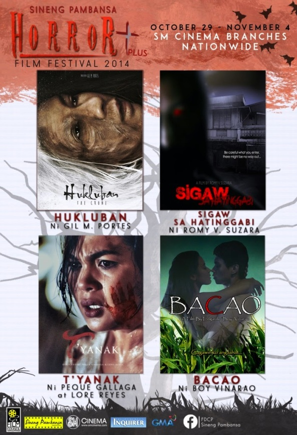 This year's entries to the first ever Horror plus Film Festival stretch the limits of horror, just in time for Halloween weekend. The Sineng Pambansa HORROR plus Film Festival will run from October 29 - November 4 at SM Cinema branches nationwide.