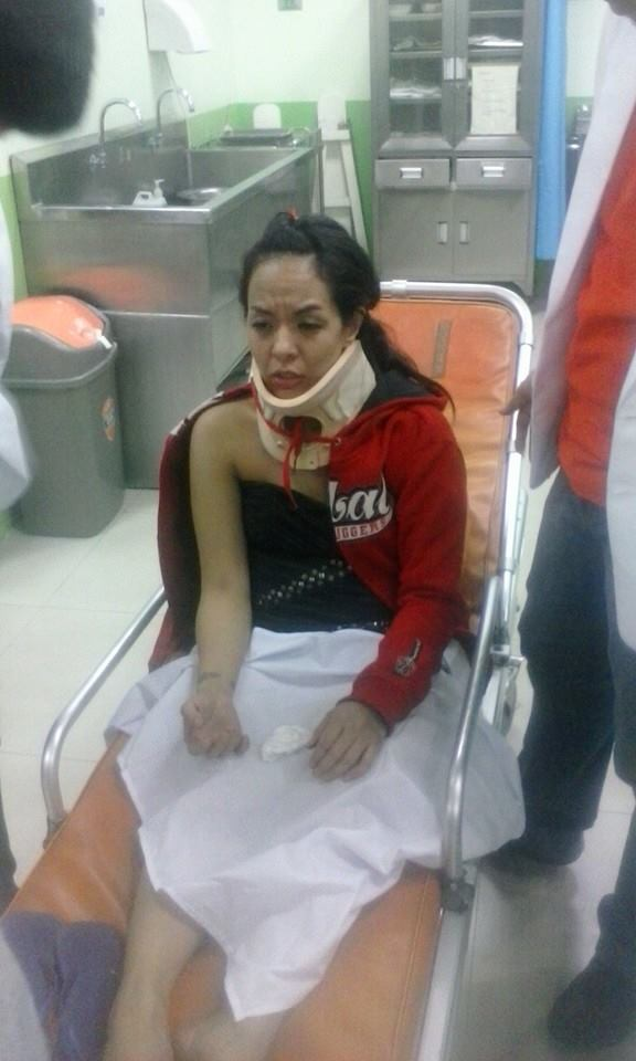 Maegan Aguilar : Bruised & Battered [photo: Maria Silorio/Facebook]
